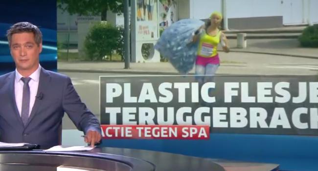 Actie wijst op plastic voetafdruk van waterproducent