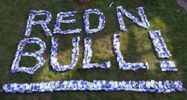 Zwerfafvalrapers dagen Red Bull uit