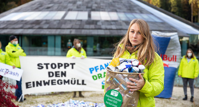 3 European environmental NGOs join forces to address the Red Bull can pollution